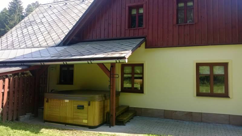 Chata v Krkonoších s vířivkou