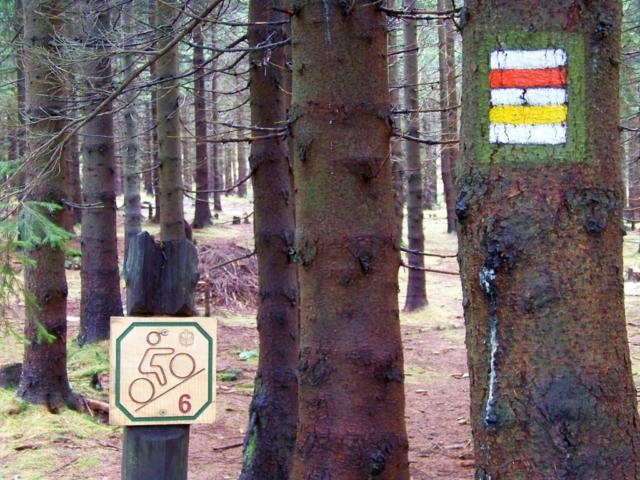 cykloturistické značení v Krkonoších