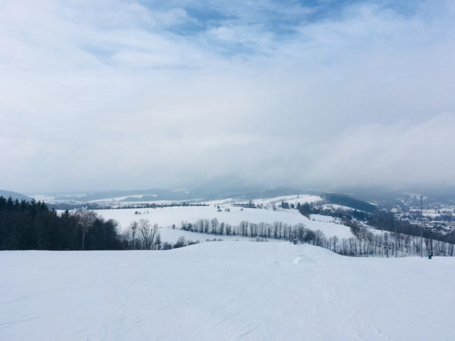 Zima ve skiareálu Mladé Buky